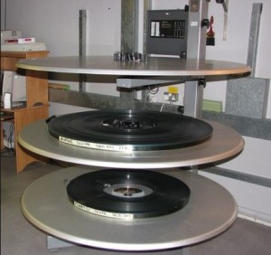 Platters for Movie Projection system